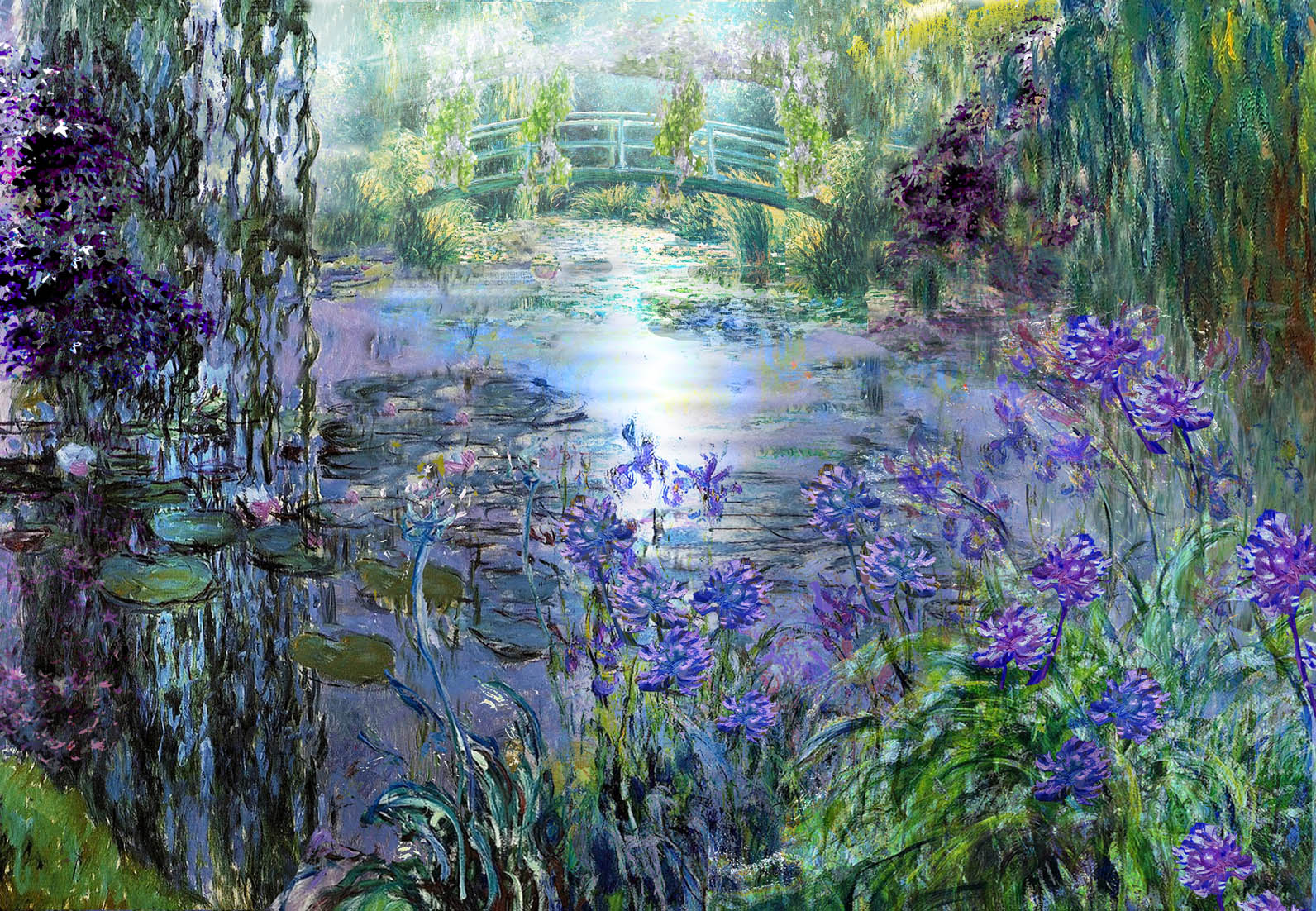 Monet s horticultural masterpiece comes to the rhs hampton for Garden painting images