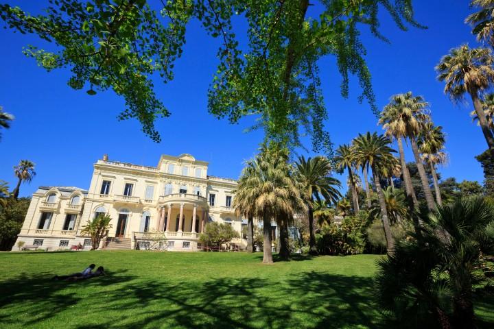 France, Alpes Maritimes (06), Cannes, Villa Rothschild, monument historique, mediatheque Noailles et son parc